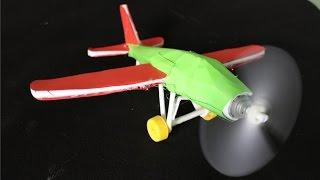 как сделать электрический самолет  бумажный самолетик
