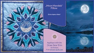 """How it was made - """"Moon Mandala"""" Pillow (DST / Time-lapse)"""