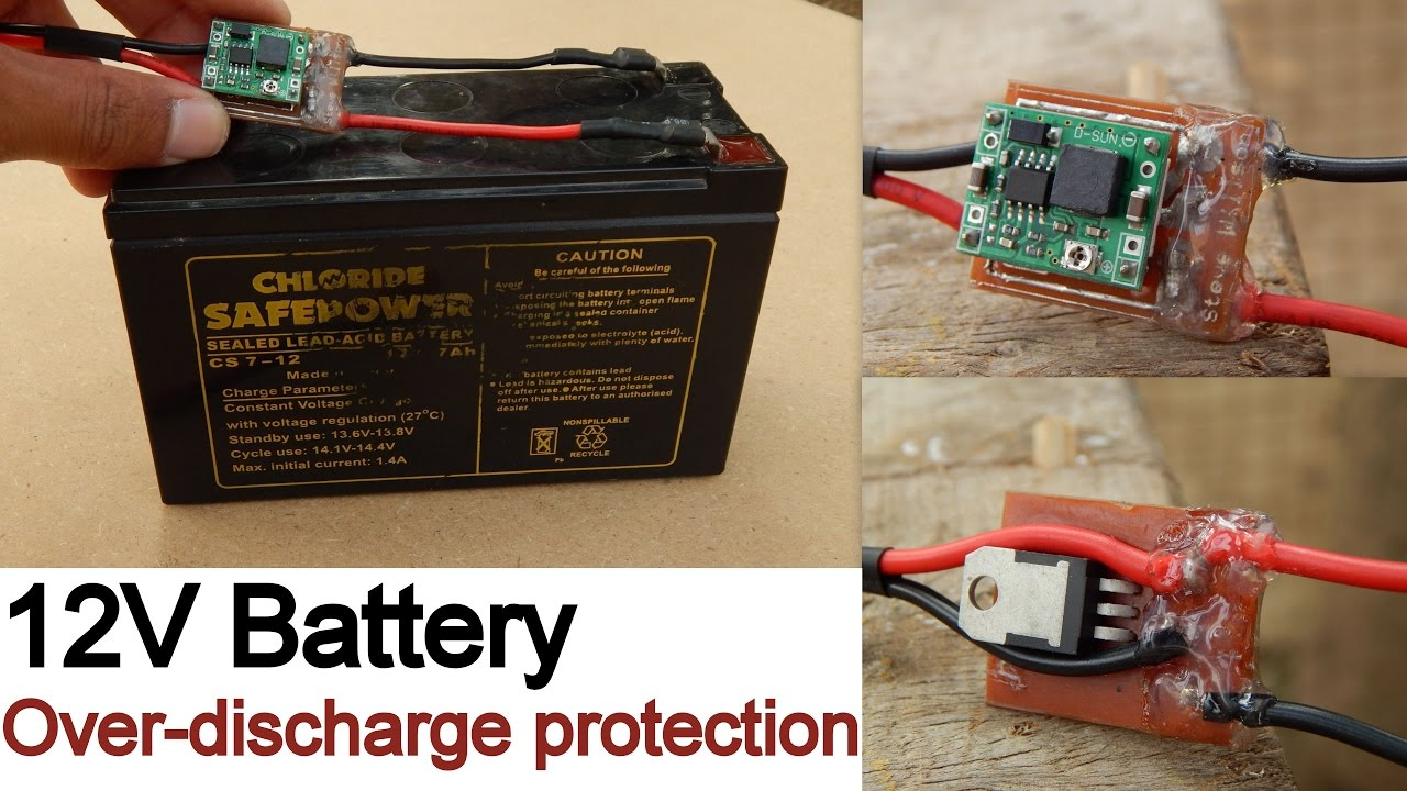 12v Battery Over Discharge Protection Youtube