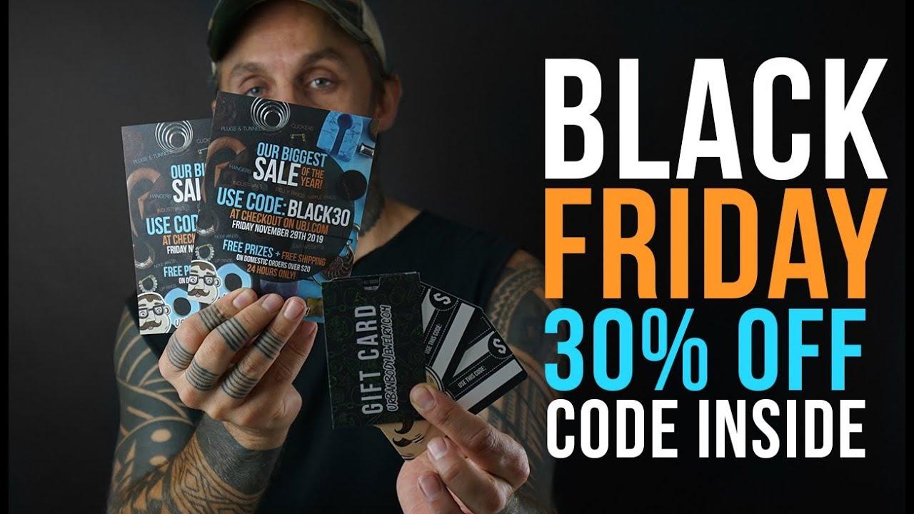 30% OFF Black Friday Sale! November 29th | UrbanBodyJewelry com