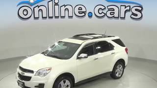 A99568GT Used 2015 Chevrolet Equinox LT FWD 4D Sport Utility White Test Drive, Review, For Sale