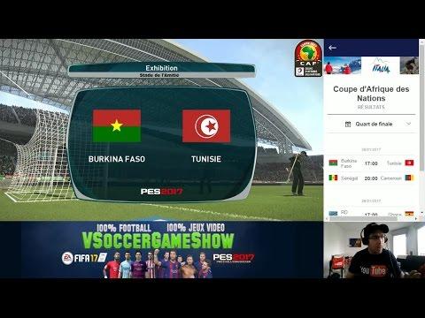 Burkina Faso - Tunisie [PES 2017*] | CAN 2017 (Quart de Finale) | CPU Vs. CPU