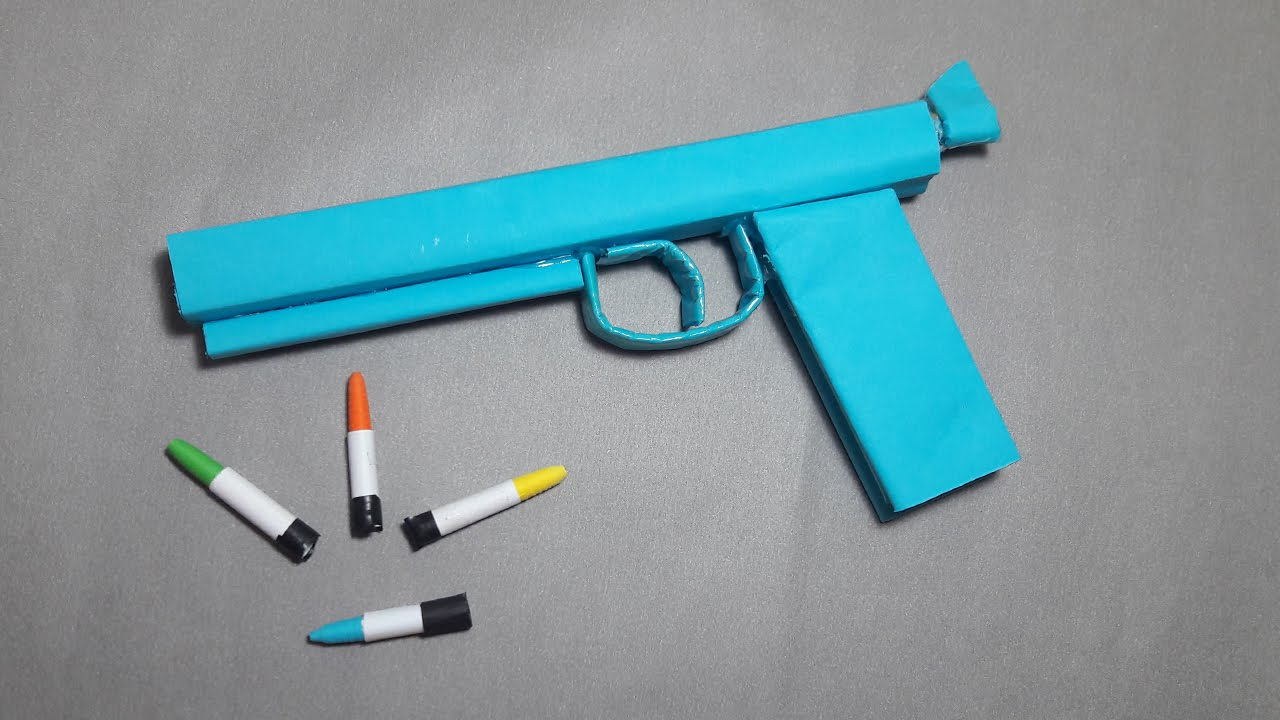 Diy How To Make A Paper Ghost Gun That Shoots Paper Bullets