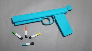 | DIY | How to make a paper'' Ghost Gun'' that shoots paper bullets-Toy WEAPONS By Dr. Origami