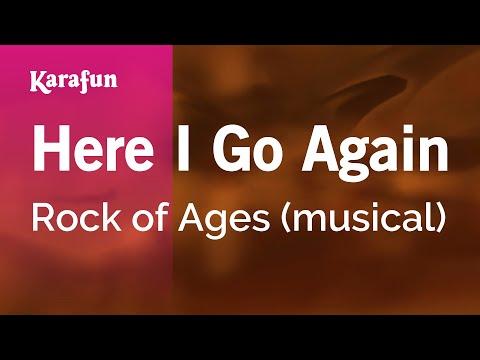 Karaoke Here I Go Again - Rock Of Ages *