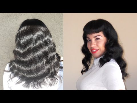 Bettie Page Hair Waves Tutorial