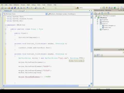 write a xml parser