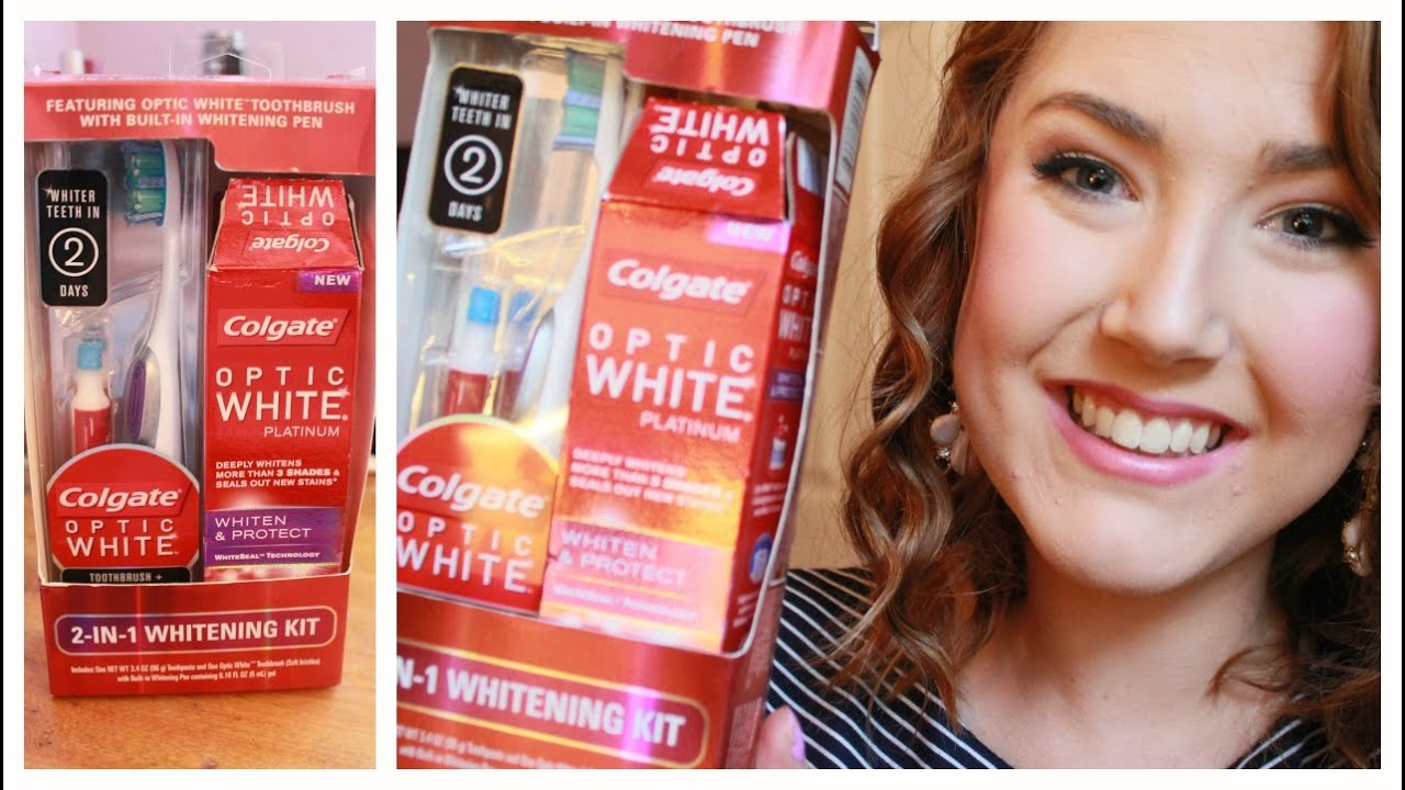 New Colgate Optic White Whitening Kit Review Youtube