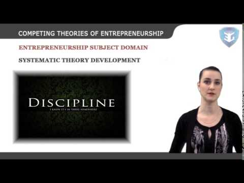 COMPETING THEORIES OF ENTREPRENEURSHIP new