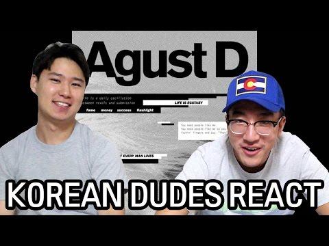 [ENG] AGUST D M/V Korean Dude Reaction! SUGA Got Some RAP SKILLS!