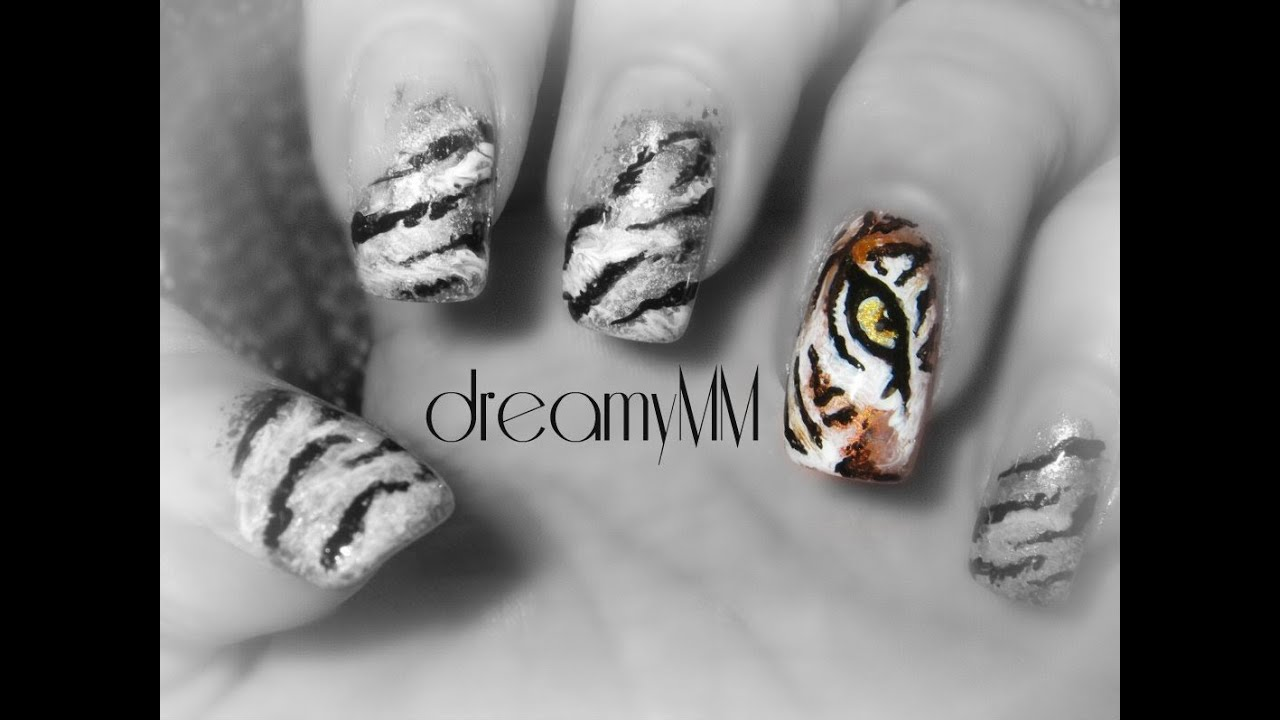 - Tiger's Eye Nail Art Tutorial - YouTube