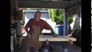 Woodworking Outside Cutting Table Assembly For Sheet Goods And Longer Larger Boards.