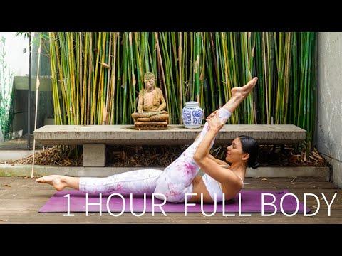 1 HOUR FULL BODY WORKOUT    Full Length Intermediate Pilates Class