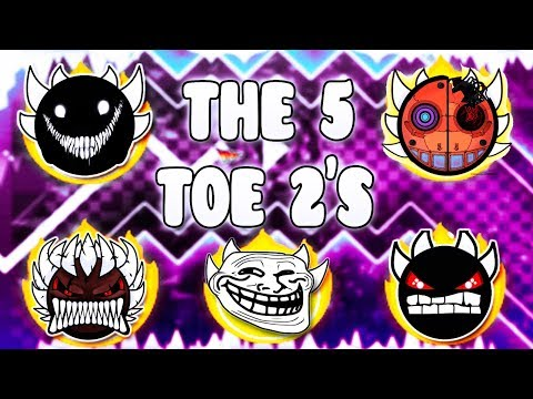 """THE 5 THEORY OF EVERYTHING 2"" !!! - GEOMETRY DASH BETTER AND RANDOM LEVELS"