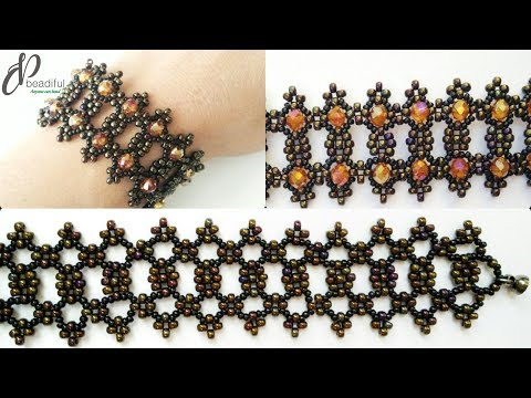 Symmetric Seed Beads Bracelet 💖| Beautiful Beaded Cuff Bracelet| How To Make Beaded Bracelet 👍