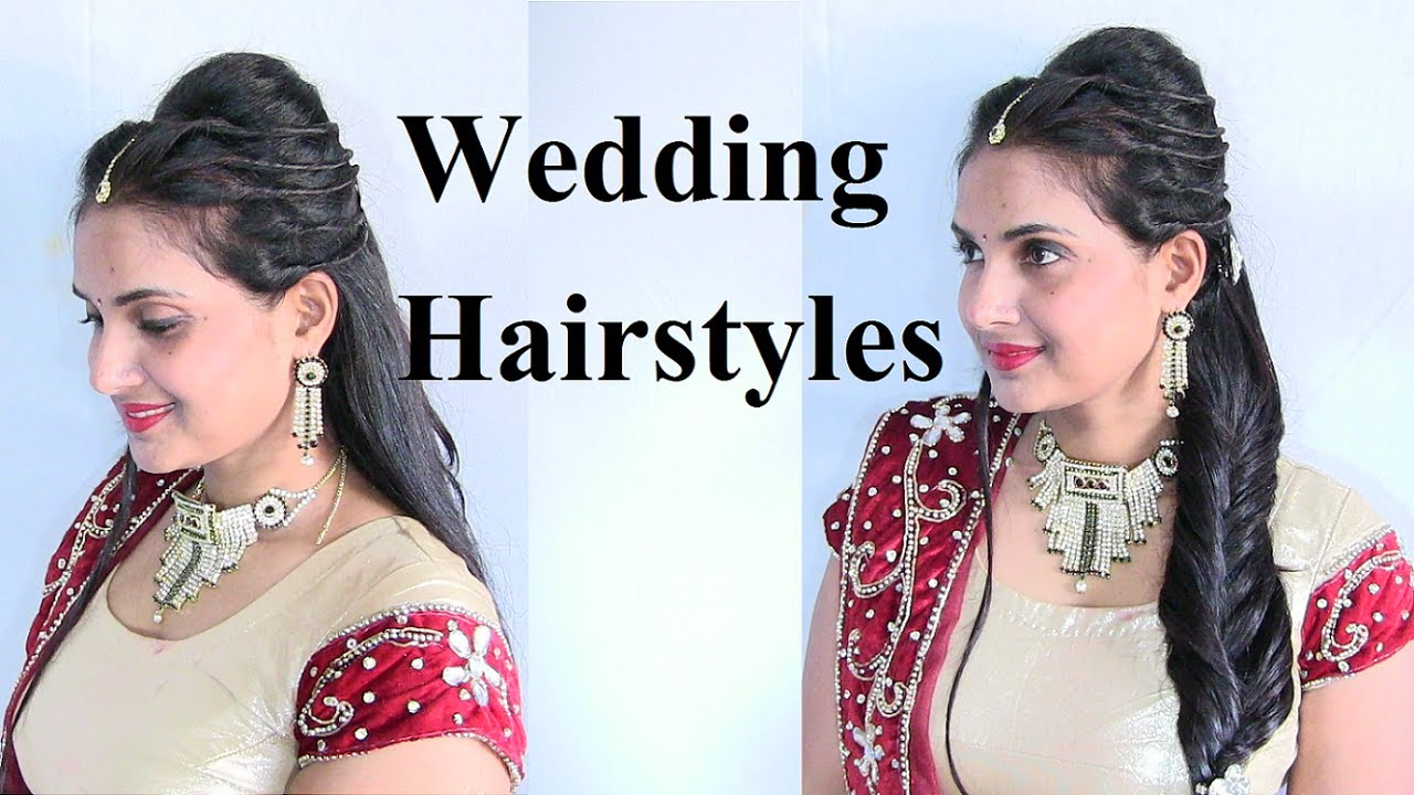 indian wedding hairstyles - wedding hair style for medium long hair
