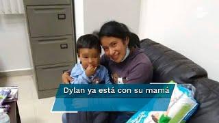 La madre del menor compartió una imagen en donde se encuentra con el niño, 40 días después de su desaparición