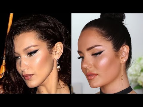 Bella Hadid Inspired Makeup Tutorial! Dramatic Winged Eye by Celebrity MUA Patrick Ta