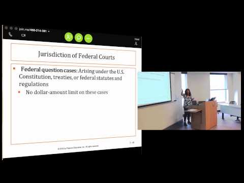 Business Law I: Lecture 1, Chapter 2