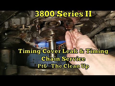 1995 Oldsmobile 3800 Timing Cover Leak & Timing Chain Service  PT 6 The Clean Up!