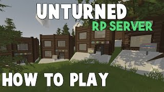 Unturned RP Server | How to Play