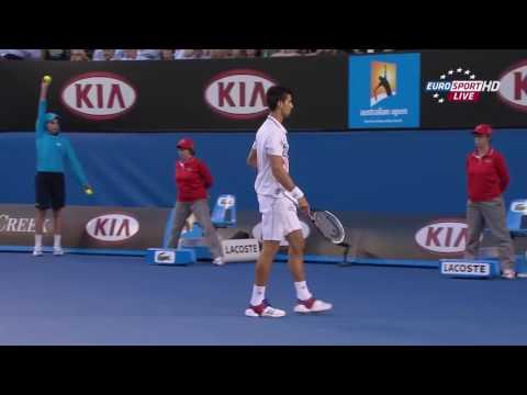 2012 - Australian Open - Semifinale - Novak Djokovic b Andy Murray 6/3 - 3/6 - (4)6/7 - 6/1 - 7/5