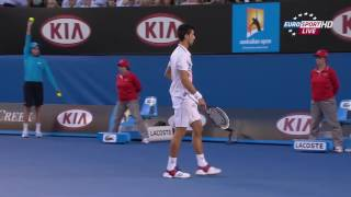 2012 - Australian Open - Semifinale - Novak Djokovic b Andy Murray 6/3 - 3/6 - (4)6/7 - 6/1 - 7/5