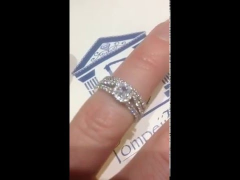 1/4ct Princess Cut Diamond Engagement Ring