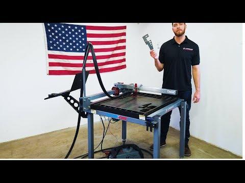Cutting Demo - CrossFire CNC Plasma Table w/Razorweld Vipercut 30 Plasma Cutter