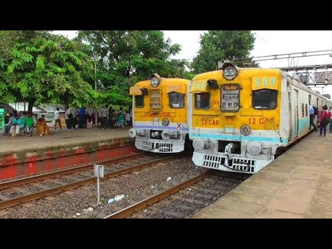 Kharagpur - Howrah local meets Midnapore local at Ramrajatala // SOUTH EASTERN RAILWAY