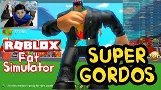 I MAKE ME IN THE MOST GORDO ? Roblox Super Fat Simulator 2 Roblox game in Spanish