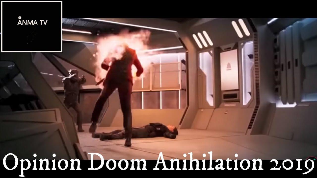 Critica reseña review y opinion de pelicula Doom Anihilation aniquilacion 2019 basado en videojuego