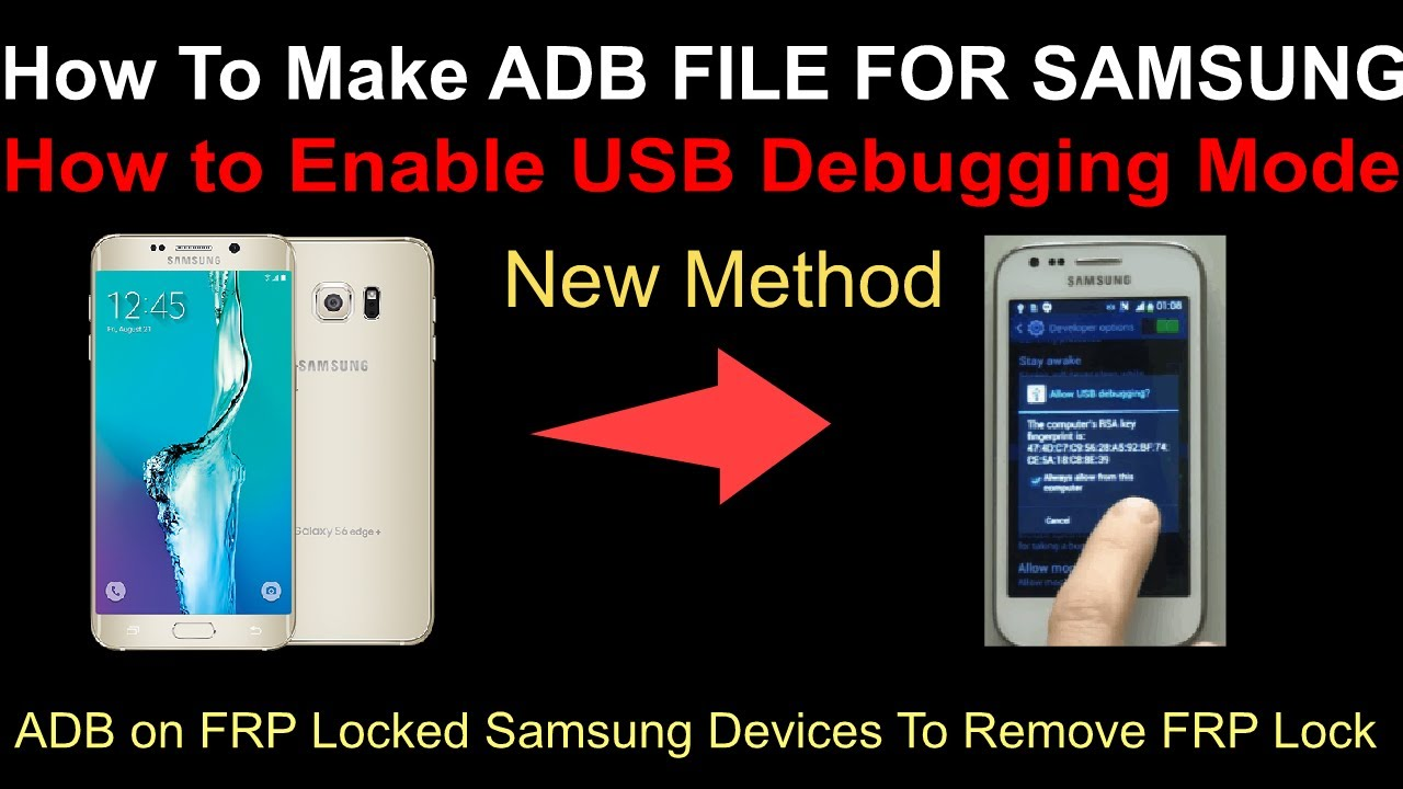 How To Make ADB file For Samsung-How to Enable USB Debugging Mode / FRP  Locked SamsungTo Remove FRP