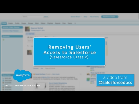 Removing Users Access To Salesforce (Salesforce Classic)