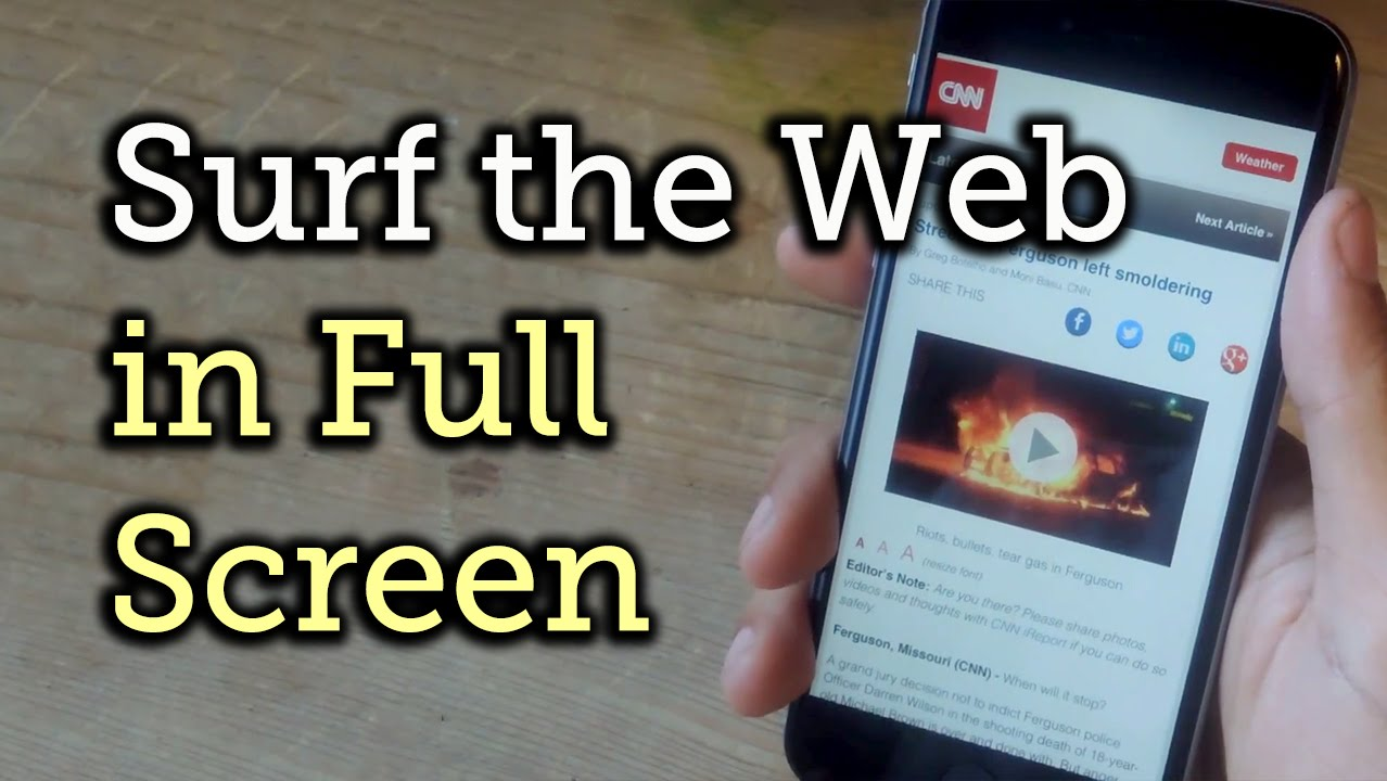 Use Your iPhone's Entire Screen to Surf the Web Distraction