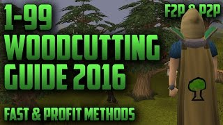 RuneScape 3 | The Ultimate 1-99 Woodcutting Guide 2016 F2P & P2P