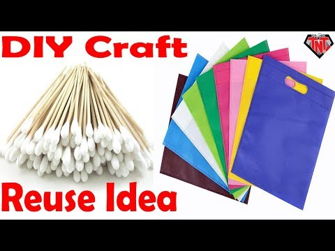 Carry Bag Wall Hanging Decoration Ideas || DIY Shopping Bag Wallmate
