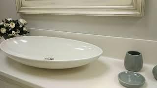 Красивая мебель для ванной в стиле