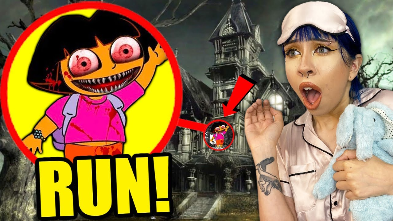 If You See CREEPY DORA THE EXPLORER Outside Your House, RUN AWAY FAST!! (Scary)