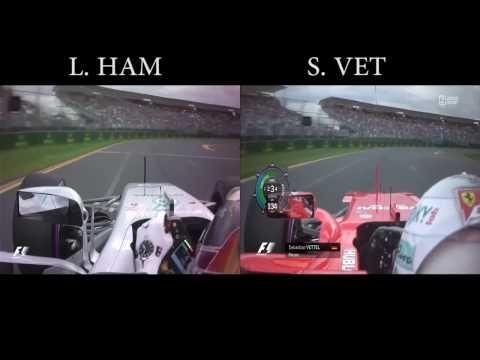 F1 2017   Australian GP Qualifying - Lewis Hamilton (P1) vs Sebastian Vettel  (P2)