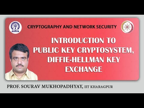 Introduction to Public Key Cryptosystem, Diffie-Hellman Key Exchange.