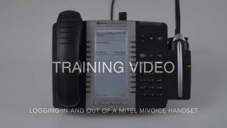 Logging in and out of a Mitel MiVoice 5300 Series Handset
