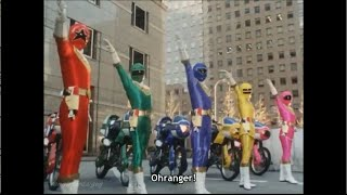 Power Rangers Zeo First Appearance (PR and Sentai version)