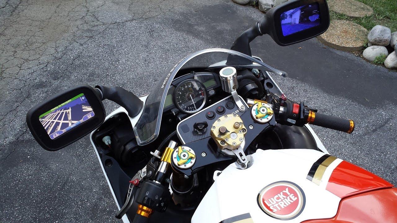 Custom Gps Rear Video Motorcycle Mirrors Youtube