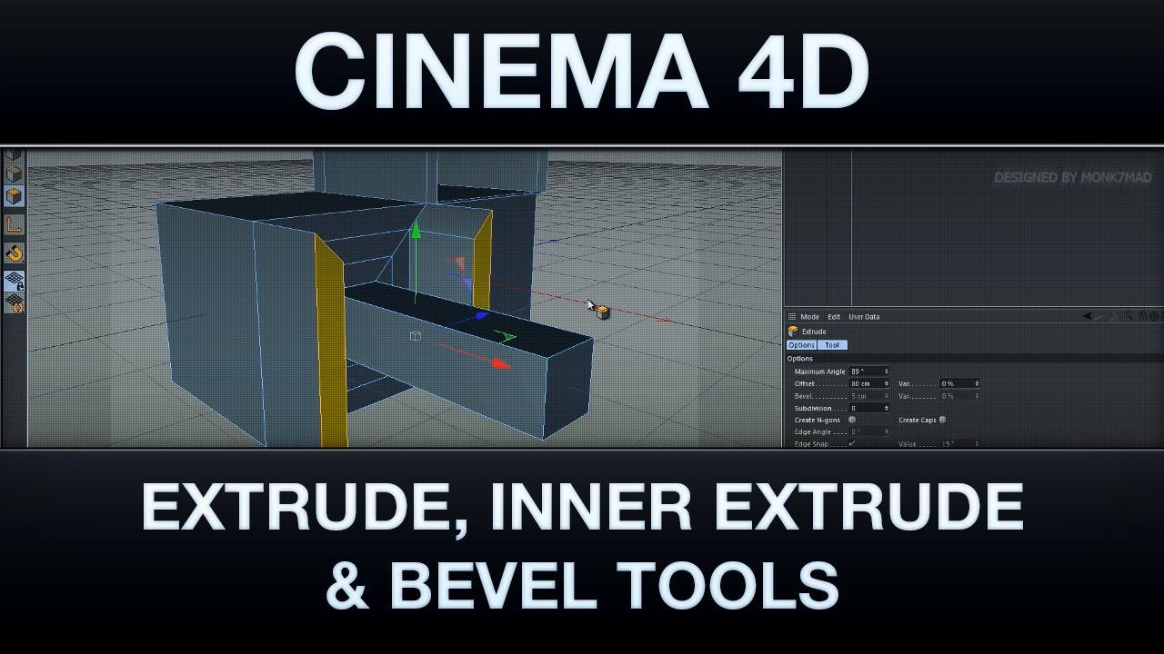 Cinema 4D | Bevel, Extrude & Extrude Inner