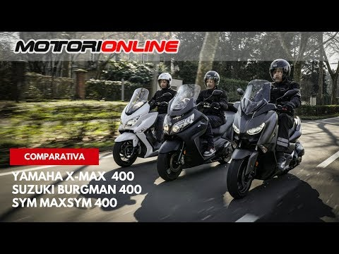 Suzuki Burgman 400 - Yamaha X-Max 400 - Sym MaxSym 400 | Comparativa