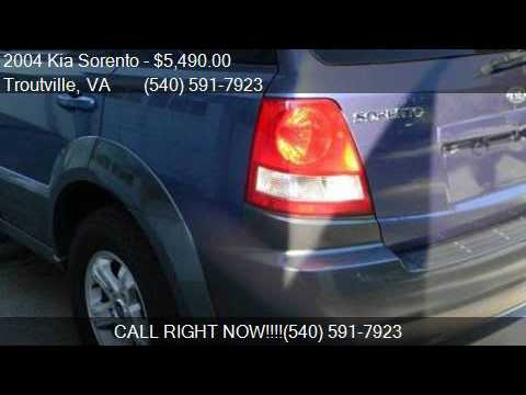 2004 Kia Sorento EX 4WD 4dr SUV for sale in Troutville, VA 2