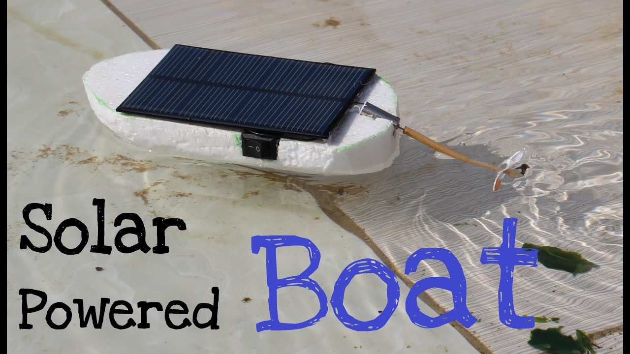 how to make a solar powered boat simple tutorial youtube
