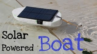 How to make a Solar Powered Boat | Simple tutorial