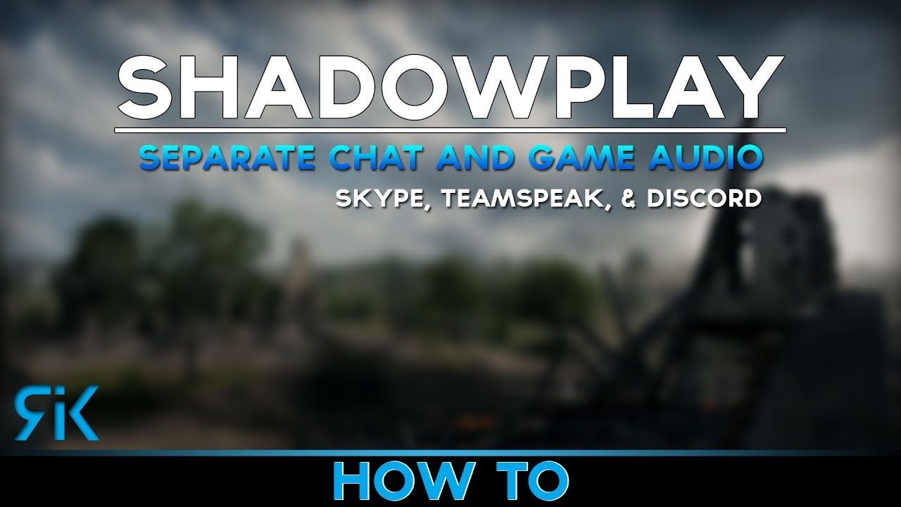 [new video in description] Shadowplay: How to only record in game sound
